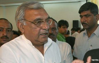 Shoe thrown at Haryana CM Bhupinder Singh Hooda