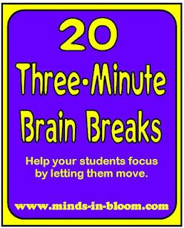 .Good Ideas, 20 Three Minute, Brain Breaks, Brain Breaking, Brainbreaks, Classroom Management, Classroom Ideas, Breaking Ideas, Three Minute Brain
