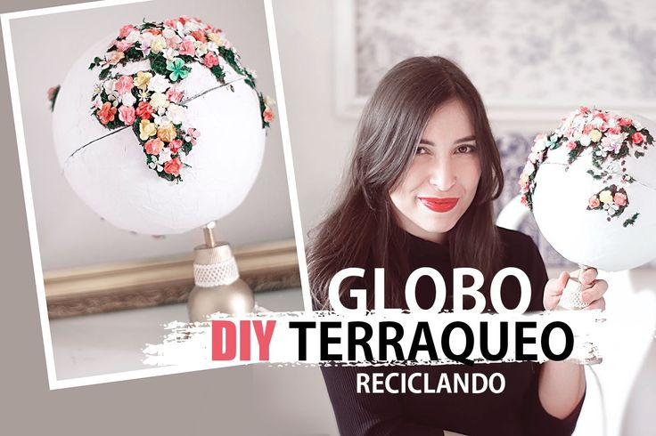 Como hacer una LAMPARA GLOBO TERRAQUEO reciclando  - #DIY mundo bonitista decorado - #DiaDeLaTierra