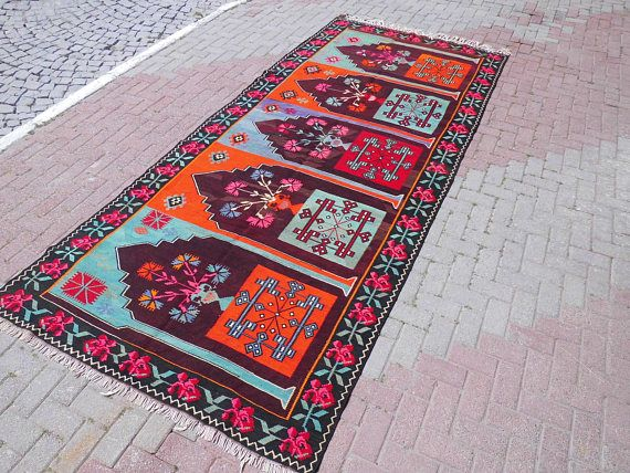 Luxury Handmade Vintage Turkish kilim rug Premium quality