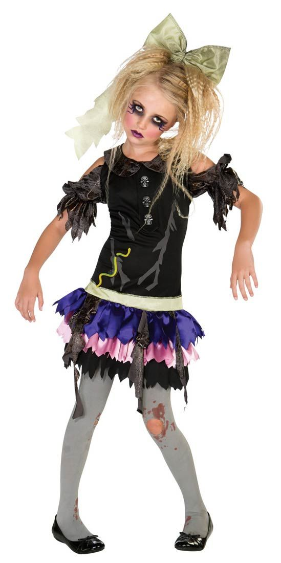 zombie costumes for little girls girls zombie costume zombie costumes halloween - Halloween Costumes Of Zombies