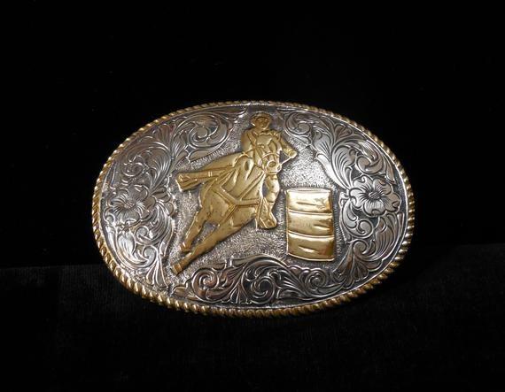 Westernwear-Shop Boucle de ceinture Texas Rose Western Belt Buckle Boucle de ceinture Western Rodeo Vintage Argent