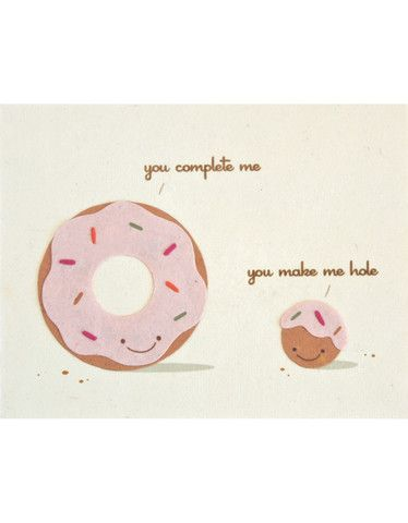 You Complete Me Handcrafted Greeting Card - Good Paper