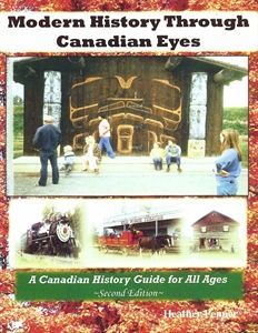 """""""A guide to teaching Canadian history using various resources including literature, videos, maps, and textbooks."""" It is designed to be used with children of all ages, from kindergarten to high school, incorporating world events chronologically into the study."""