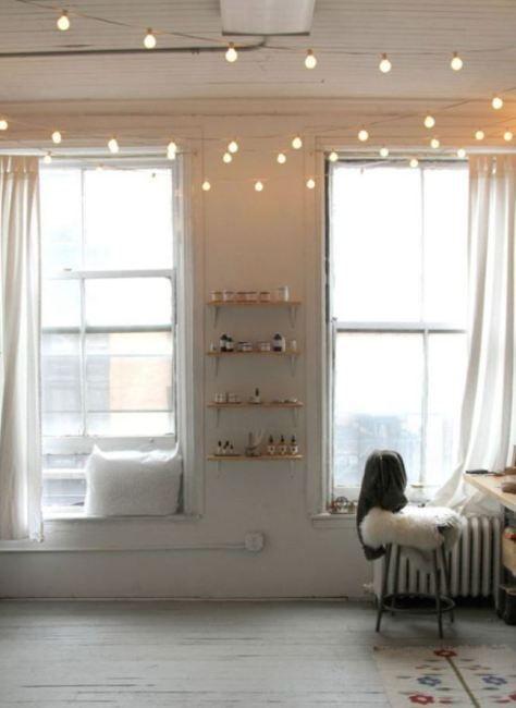 HomelySmart | 16 Lovely Indoor String Light Decor