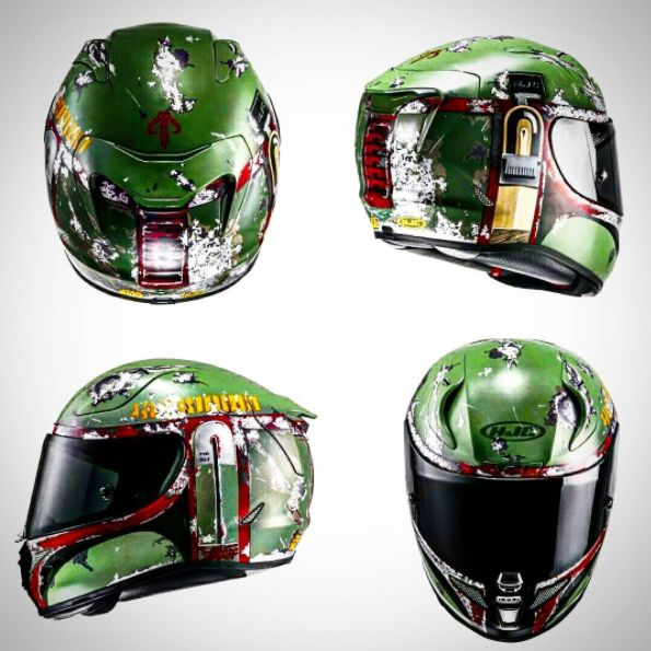 Bobafett HJC rpha11 Motorcycle Helmet 8