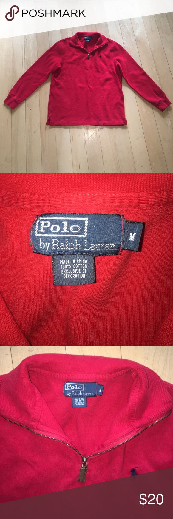 Polo by Ralph Lauren Men's Medium pullover Red Polo by Ralph Lauren pullover sweatshirt. Size: Men's Medium. Red Polo by Ralph Lauren Sweaters Crewneck
