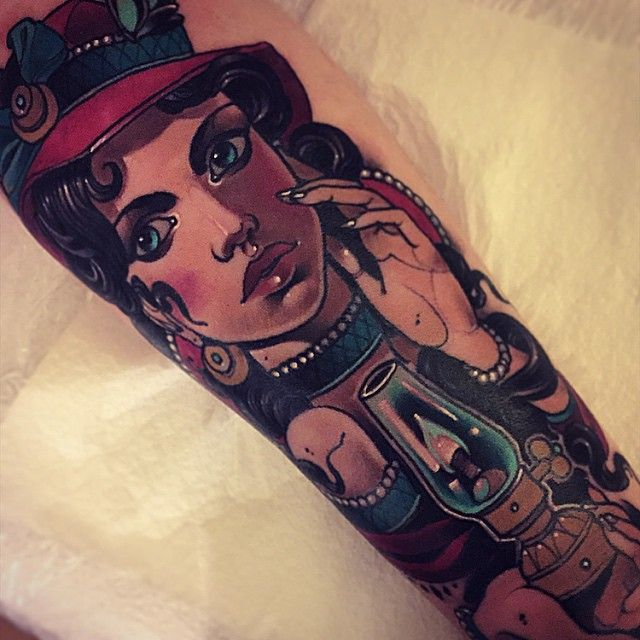 Classic Woman Tattoo by Vitaly Morozov