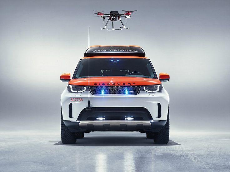 Land Rover Drone llegó para salvar vidas y llevarla tecnologia de los drones a los vehiculos de rescates. Esta vez en el Land Rover Hero.