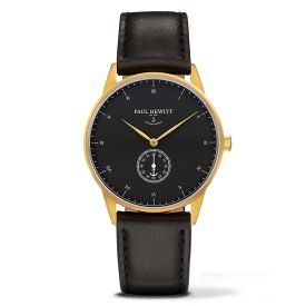 PAUL HEWITT Signature Line Watch MARK I Black Sea Leather Classic Black