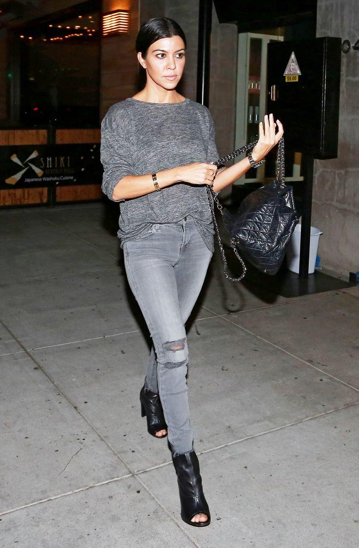 Kourtney Kardashian Proves Monochrome Dressing Is Easy as Pie via @WhoWhatWear