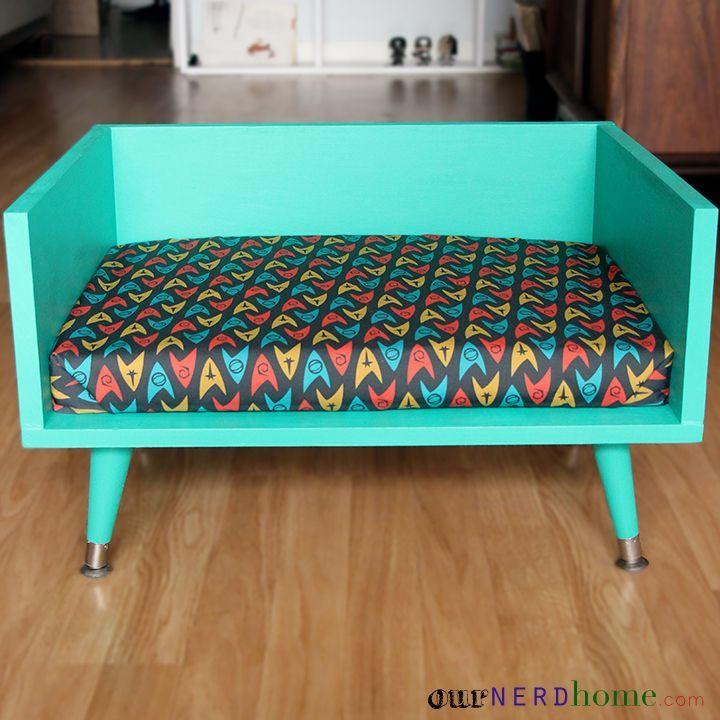 DIY Mid Century Modern Pet Bed