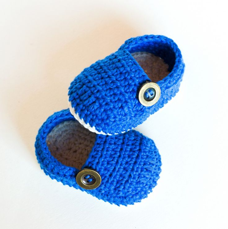 Crochet Pattern – Baby Booties Grandpa Slippers | Croby Patterns