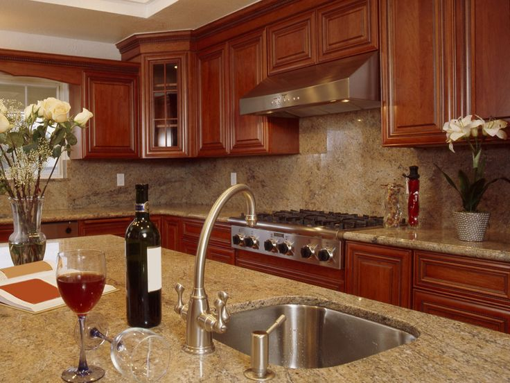 Granite backsplash.