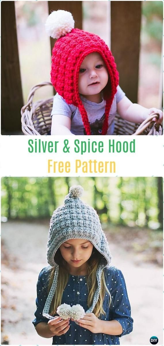 Crochet Silver and Spice Hood Free Pattern - Crochet Hoodie Scarf Free Patterns