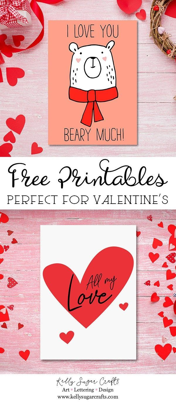 Free Valentine S Day Printable Cards Kelly Sugar Crafts Free Valentines Day Cards Printable Valentines Cards Happy Valentines Day Card