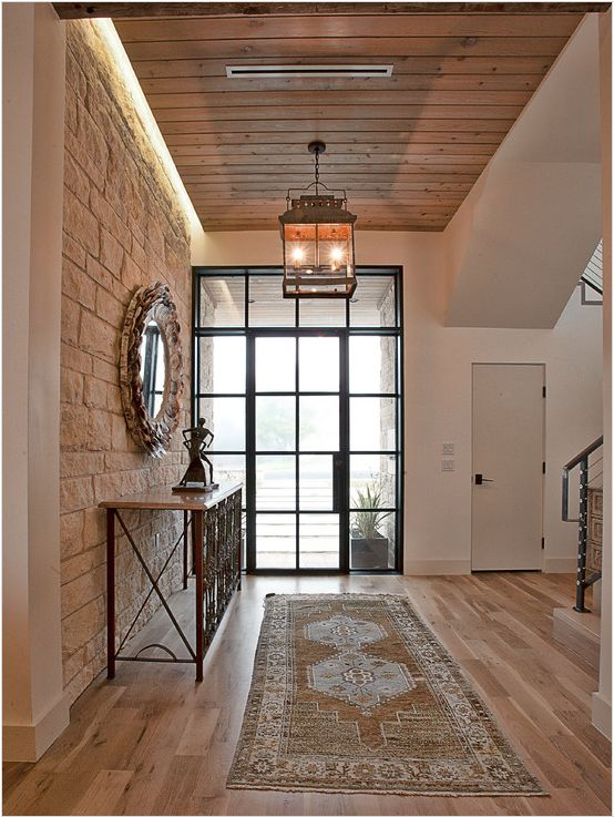 Cat Mountains Rustic Contemporary Home368 best Entryways images on Pinterest   Stairs  Farmhouse style  . Narrow Hallway Wall Decorating Ideas. Home Design Ideas
