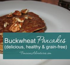 """Delicious gluten-free buckwheat pancakes that are light and fluffy. They can also be made without eggs. (As """"Little House"""" fans know, buckwheat pancakes were one of Almanzo's favorites!)"""