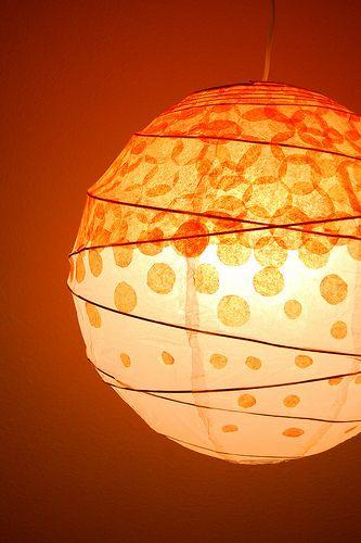 DIY paper lamp decorating