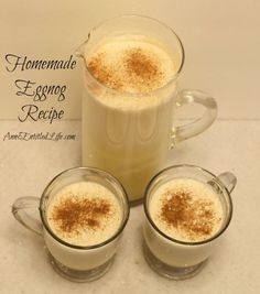 Homemade Eggnog Recipe; Eggnog is a delicious, traditional holiday drink, and this homemade eggnog recipe makes a fabulously rich, tasty, fresh eggnog you can whip up in minutes. This is truly the best eggnog you will ever have.