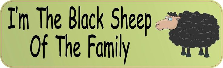 10x3 I'm The Black Sheep of the Family Bumper Sticker Decal Car Stickers Decals