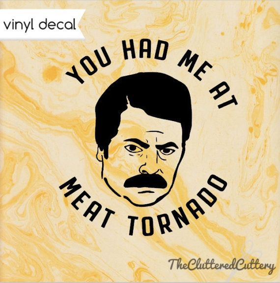 Ron Swanson Meat Tornado Decal, Ron Swanson decal, Parks and Rec decal, Meat Tornado vinyl car decal, funny car decal