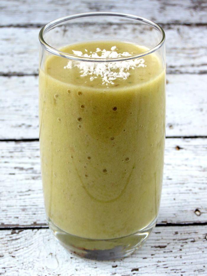 Quick And Easy Pineapple, Banana, And Avocado Smoothie | YummyAddiction.com