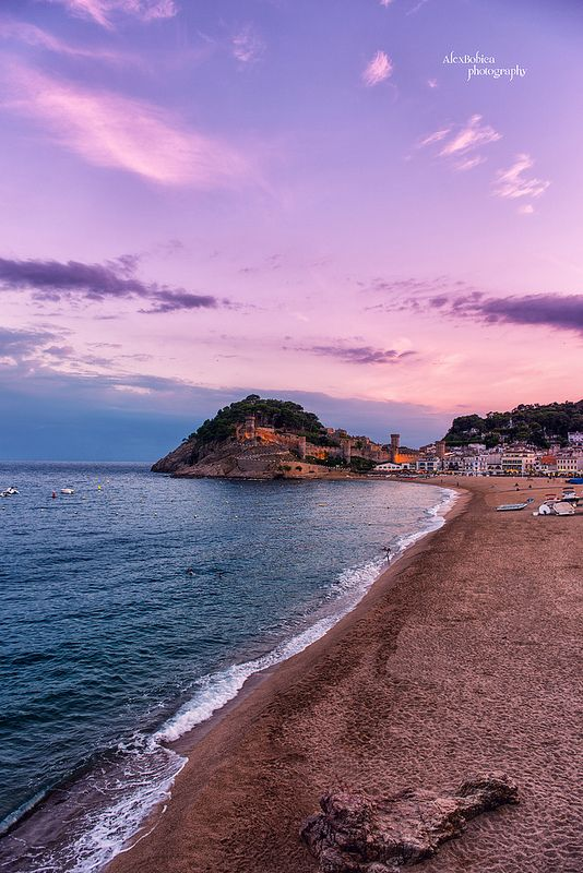 Sunset in Tossa de Mar - #AlexBobicaPhotography, #sunset, #Spain, #sea, #beach, #summer