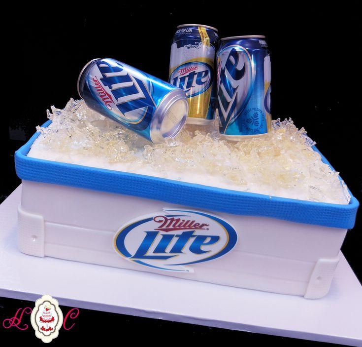 Miller Lite Cooler Groom's Cake