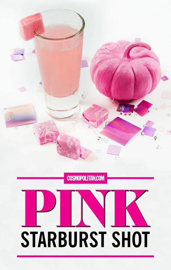 This pink starburst shot tastes exactly like your favorite candy and is a perfect starter for a great night.