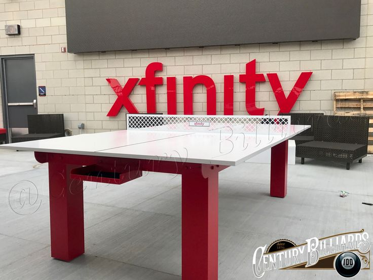 Gentil Custom Ping Pong Table For The Atlanta Braves At The Xfinity Rooftop Lounge  At Suntrust Park