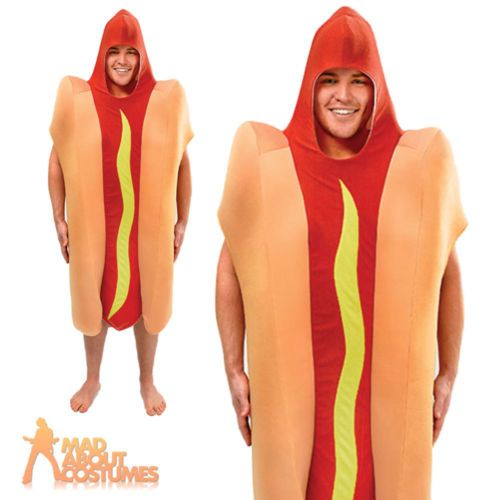 Adult hot dog costume #unisex novelty food and #drink #fancy dress outfit new,  View more on the LINK: http://www.zeppy.io/product/gb/2/151955592761/