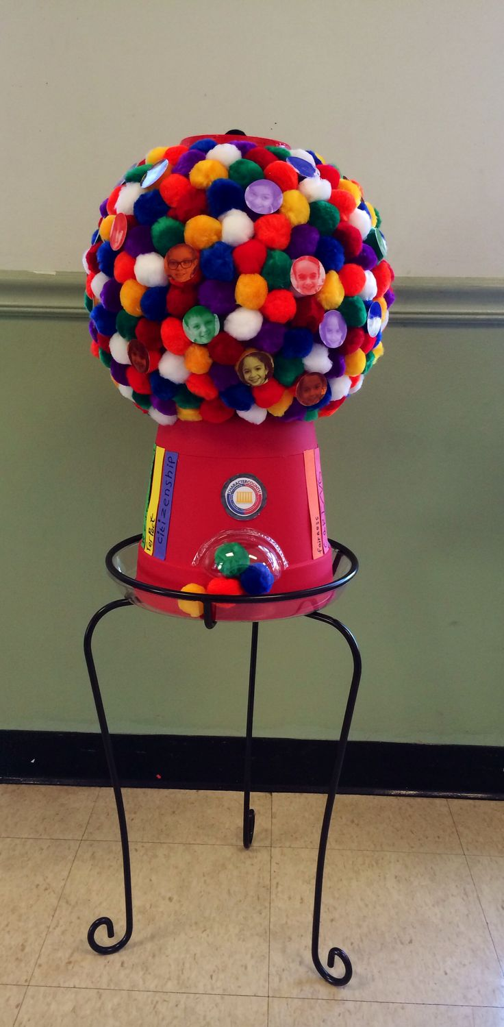 Gumball Machine Winner Of School Pumpkin Decorating