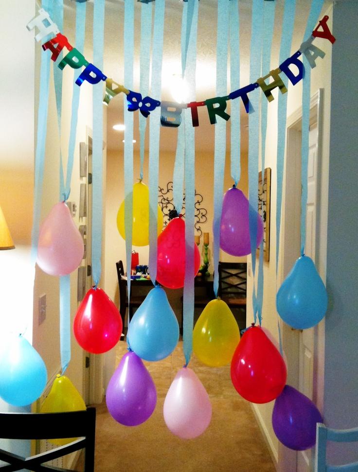 Birthday banner & streamers... easy peasy lemon squeezy!