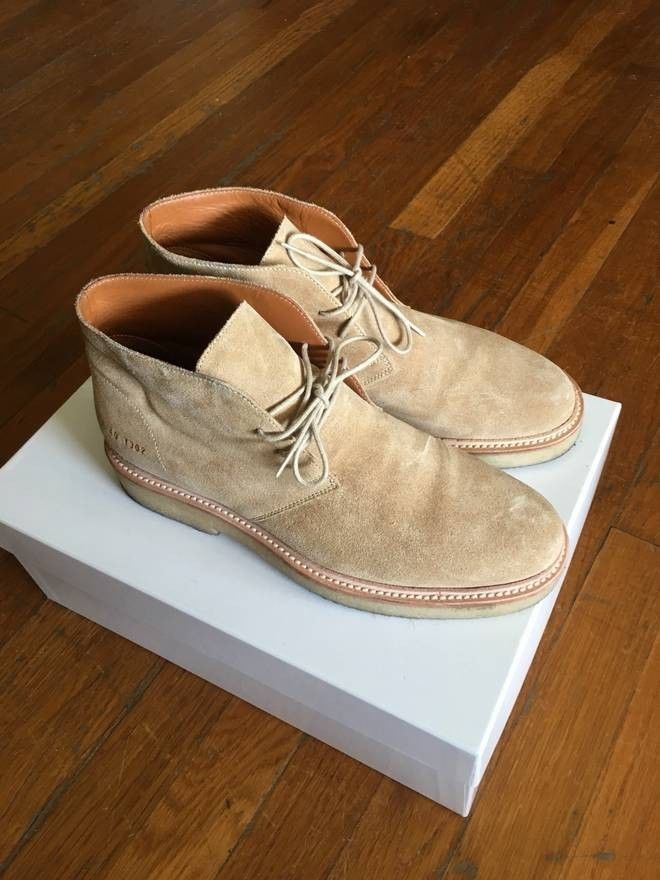 d5ac94c55b9f3 Common Project Suede Chukka Boots Mens Made In Italy #fashion ...