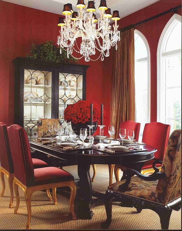 Best 25 Red dining rooms ideas on Pinterest  Red accent walls Red wall decor and Orange