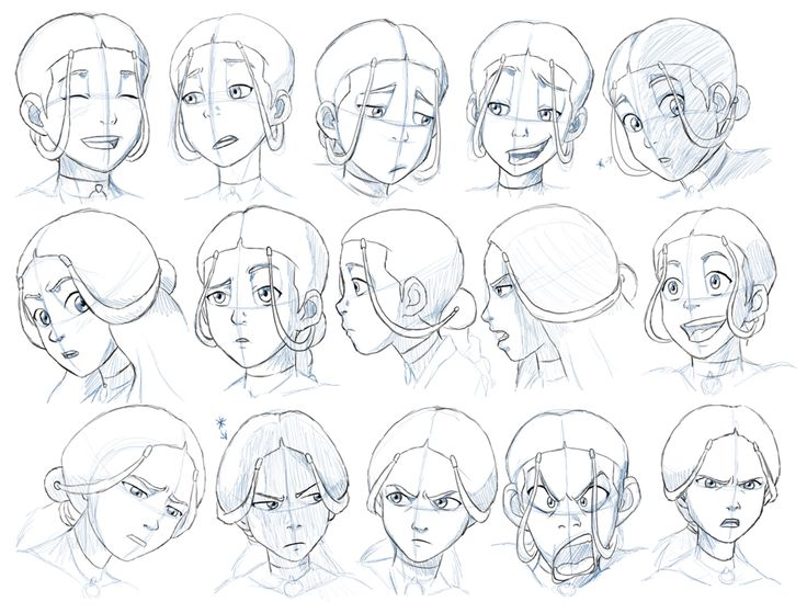 Katara Expressions Study by ~Nylak on deviantART