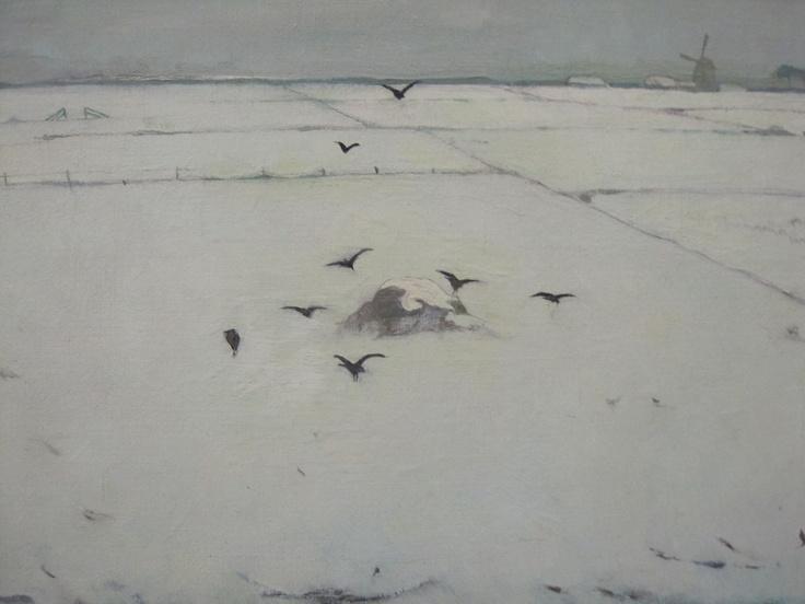 detail, painting :Jan Mankes in Bellevédère, Heerenveen '