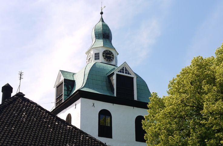 The belfry of Porvoo Cathedral. The belfry's oldest parts date from medieval times, and the present appearance is from the 18th century.