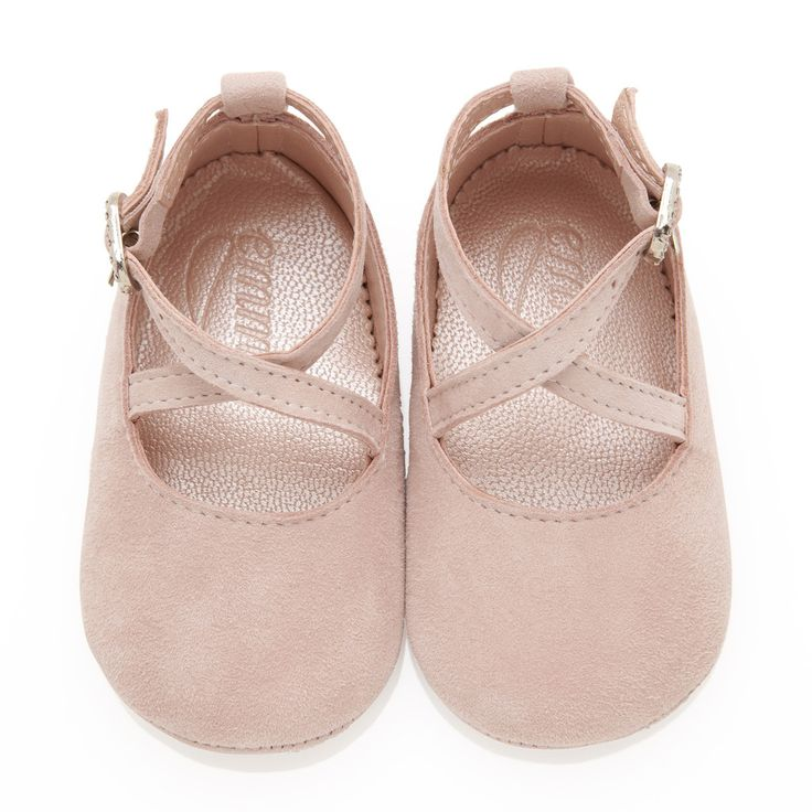Buy Mimi Rose Pink Soft Suede Baby Girl Shoes | Emmy London