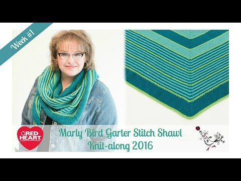 Marly Bird Garter Stitch Shawl Knit-along Week 1 - YouTube