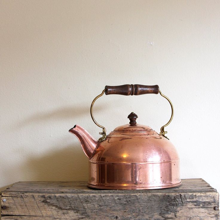 Vintage Copper Tea Kettle - Paul Revere Revereware 1976.