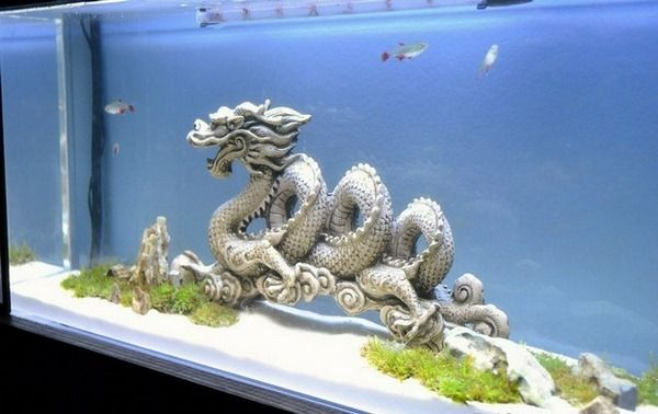 1000 images about aquariums decor japanese chinese for Acquarium decoration