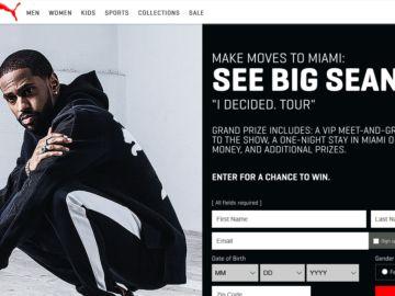 Puma Big Sean I Decided. Tour Sweepstakes