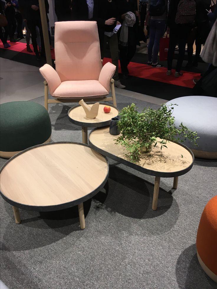 #maisonetobjets #design #trend #salon #lamanufacturedudesign #furniture #table #chair #couch #colors #pink #plant