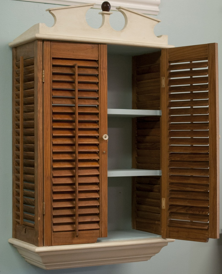 Upcycled Kitchen Cabinets: Upcycled Medicine Cabinet From Recovered Shutters