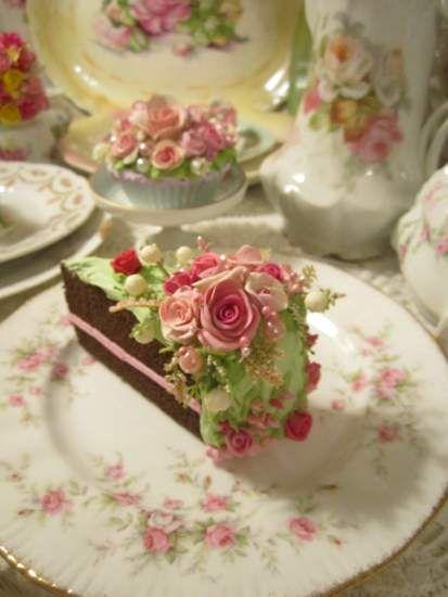 (PinkChristmasSlice) Fake Cake Slice