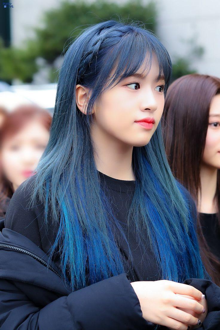 Izone Yujin Wallpaper Izone Yujin Kpop Hair Color Blue Hair Kpop Hair