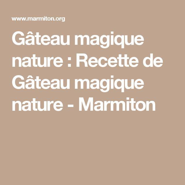 Marmiton gateau magique nature