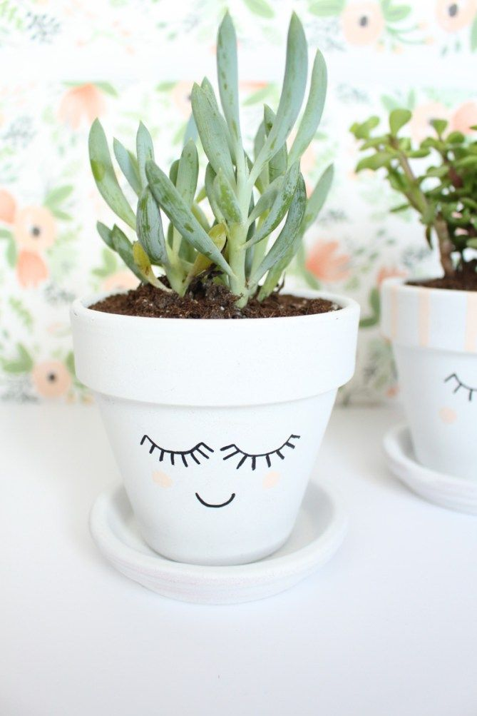 DIY Pretty Face Planters - Gold Standard Workshop